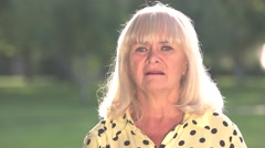 Senior woman is scared. Stock Footage