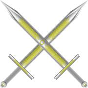Sword cross Stock Illustration