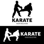 Karate vector logo. Brand's logo in the form of karate Stock Illustration