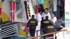 Norwegian Cruise Line Cruise Ship Security Boarding Passengers Stock Footage
