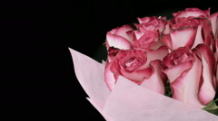 Rotating large bouquet of fresh rose buds Stock Footage