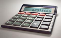 Calculate Money Gains and Losses Stock Illustration