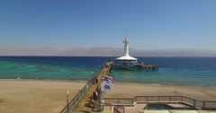 Underwater Observatory Eilat, Israel Red Sea. Stock Footage