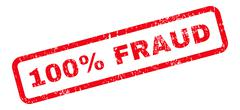 100 Percent Fraud Text Rubber Stamp Stock Illustration