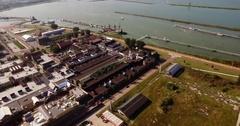 Aerial from Batavia Stad, Lelystad, The Netherlands Stock Footage