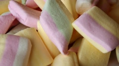 Rotating sweets, candy, marshmallows Stock Footage