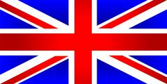 United Kingdom of Great Britain flag Stock Illustration
