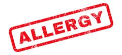Allergy Text Rubber Stamp Stock Illustration