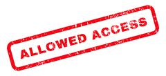 Allowed Access Text Rubber Stamp Stock Illustration