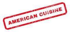 American Cuisine Text Rubber Stamp Stock Illustration