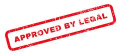 Approved By Legal Text Rubber Stamp Stock Illustration