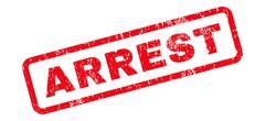 Arrest Text Rubber Stamp Stock Illustration