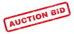 Auction Bid Text Rubber Stamp Stock Illustration