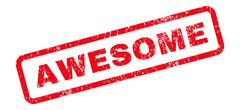 Awesome Text Rubber Stamp Stock Illustration