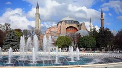 Istanbul, Turkey - : Tourists walking in Sultanahmet Square Stock Footage