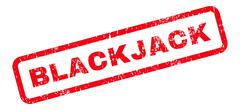 Blackjack Text Rubber Stamp Stock Illustration