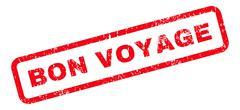 Bon Voyage Text Rubber Stamp Stock Illustration