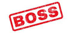 Boss Text Rubber Stamp Stock Illustration