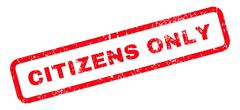 Citizens Only Text Rubber Stamp Stock Illustration