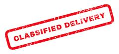Classified Delivery Text Rubber Stamp Stock Illustration