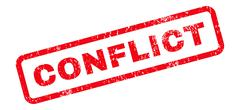 Conflict Text Rubber Stamp Stock Illustration