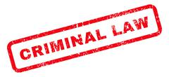 Criminal Law Text Rubber Stamp Stock Illustration