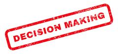 Decision Making Text Rubber Stamp Stock Illustration