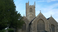 Medieval English Stone Church Stock Footage