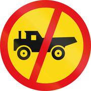 Temporary road sign used in the African country of Botswana - Construction ve Stock Illustration