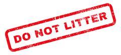 Do Not Litter Text Rubber Stamp Stock Illustration