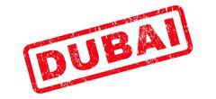 Dubai Text Rubber Stamp Piirros