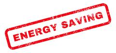 Energy Saving Text Rubber Stamp Stock Illustration