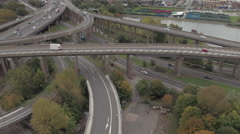 Spaghetti Junction M6 Motorway Stock Footage