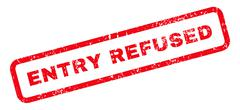 Entry Refused Text Rubber Stamp Stock Illustration