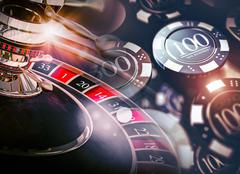 Casino Roulette Game Chips Concept 3D Illustration. Casino Gambling Theme. Piirros