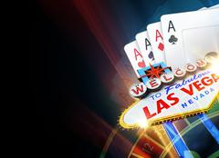 Black Poker and Roulette in Las Vegas Background with Copy Space Illustration Stock Illustration