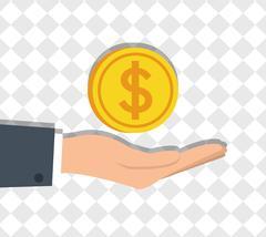 Money savings hand Stock Illustration