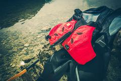Water Sports Equipment Included Wet Suit and Life Jacket. Stock Photos