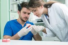 Dental prosthesis, dentures, prosthetics work. Kuvituskuvat