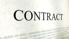 Contract Document Close Up - Slant Angle Stock Footage