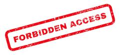 Forbidden Access Text Rubber Stamp Stock Illustration