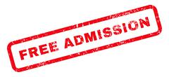 Free Admission Text Rubber Stamp Stock Illustration