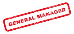 General Manager Text Rubber Stamp Stock Illustration