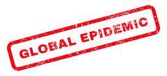 Global Epidemic Text Rubber Stamp Stock Illustration