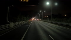 M6 Road Works Night Closure Stock Footage