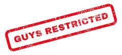 Guys Restricted Text Rubber Stamp Stock Illustration