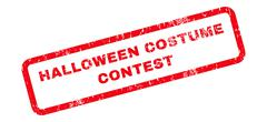 Halloween Costume Contest Text Rubber Stamp Stock Illustration