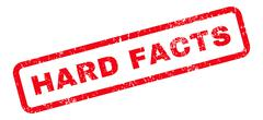 Hard Facts Text Rubber Stamp Stock Illustration