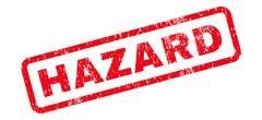 Hazard Text Rubber Stamp Stock Illustration
