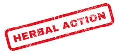Herbal Action Text Rubber Stamp Stock Illustration
